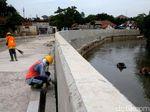 Penampakan Terkini Normalisasi Sungai Ciliwung di Bukit Duri