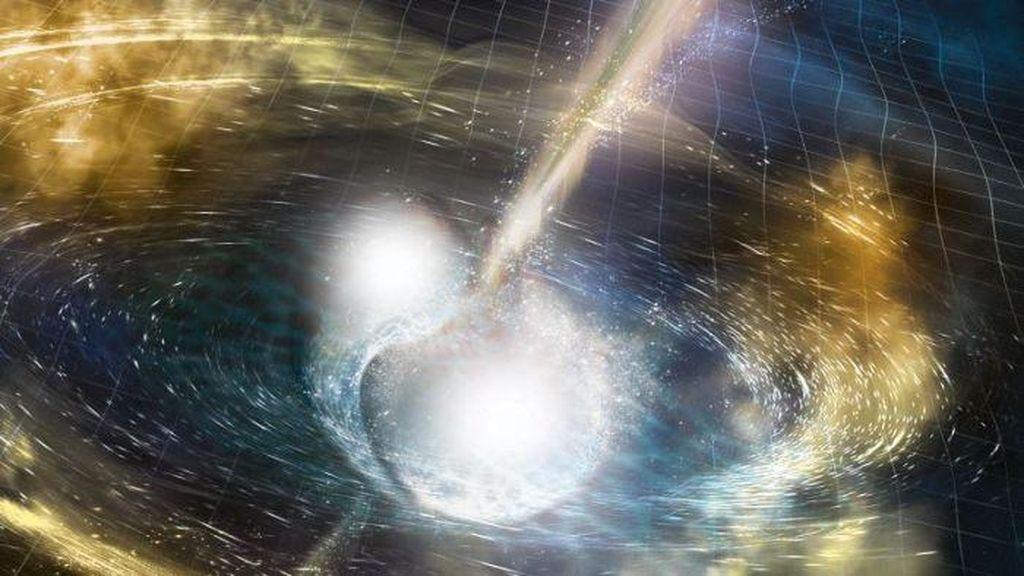 Gelombang Gravitasi Ungkap Terjadinya Tabrakan Bintang