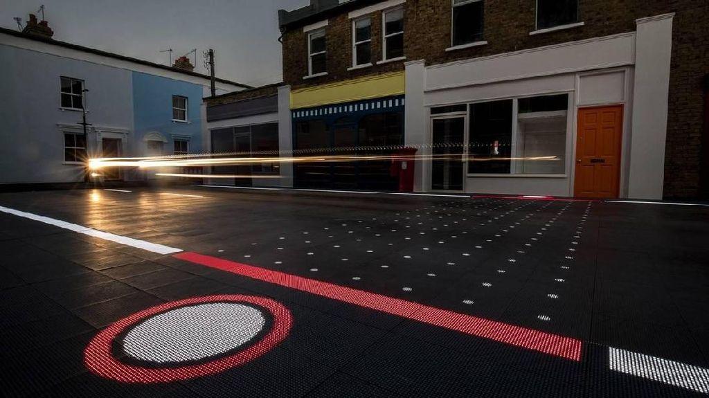 Canggih, Jalanan dengan LED dan Kamera Ini Bisa Kurangi Kecelakaan