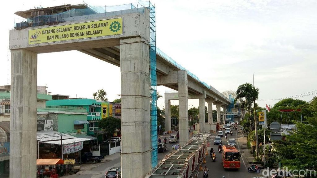 Proyek LRT Palembang 80%, Ditarget Uji Coba April 2018