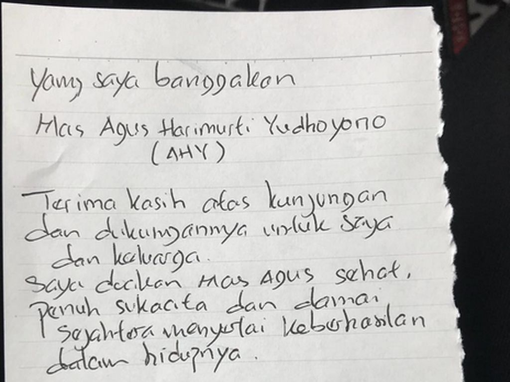 Agus Yudhoyono Jenguk Ahok di Rutan Brimob, Saling Bercerita