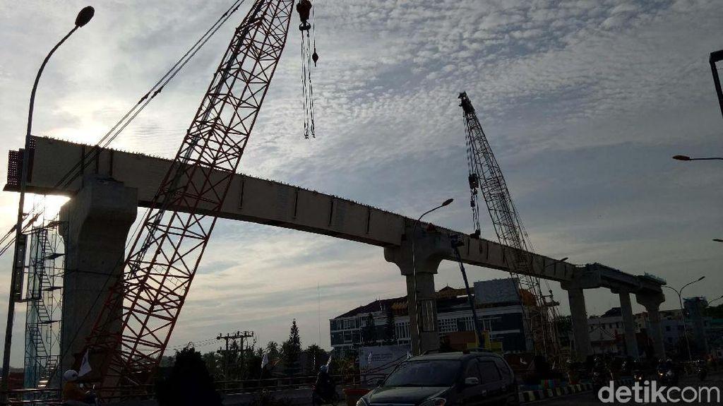 Yuk Intip Proyek LRT Palembang yang Lagi Dikebut
