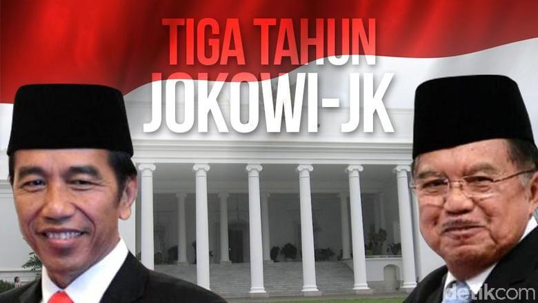 Polling detikcom soal Kinerja Jokowi-JK: 48% Puas, 47% Tak Puas