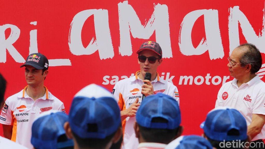Kata Marquez soal Persaingan dengan Dovizioso dan Vinales di Akhir Musim