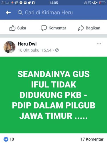 Screenshot facebook Heru Dwi