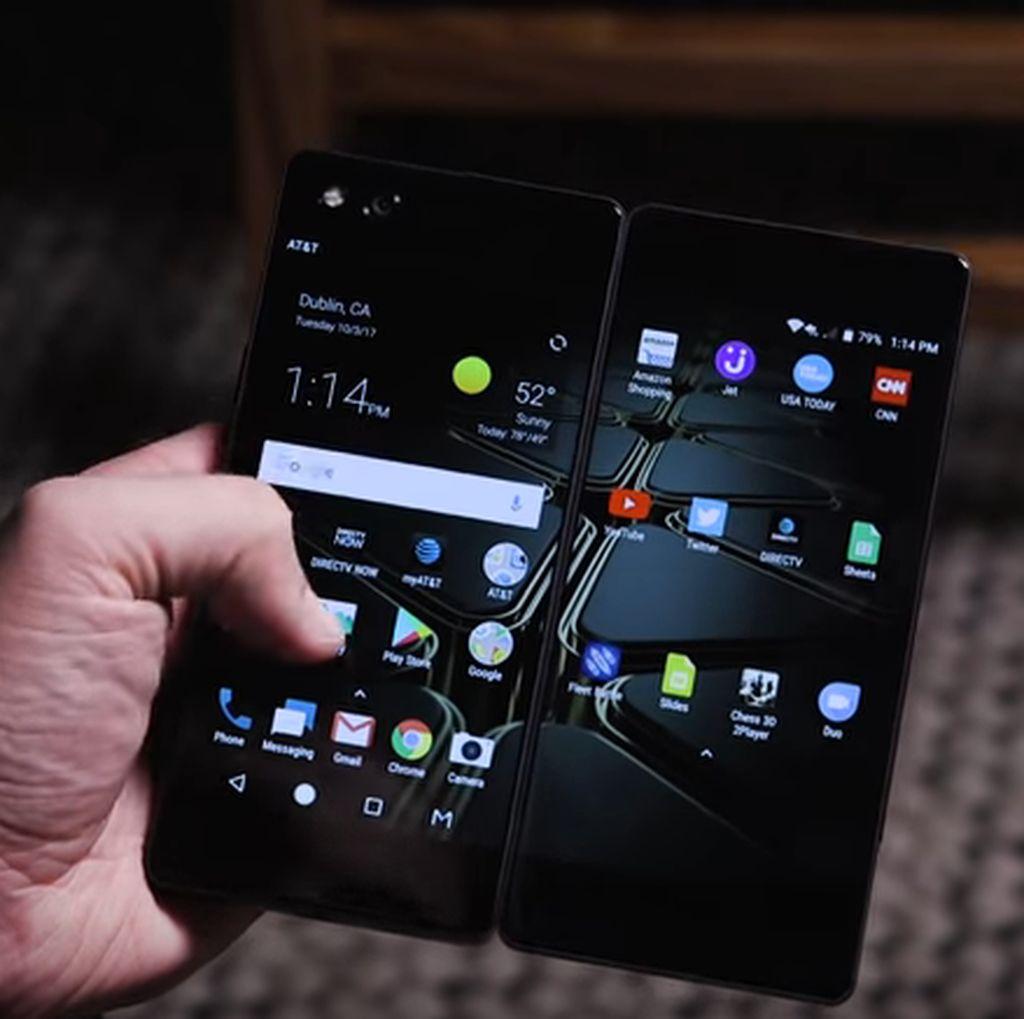 Huawei Ingin Susul ZTE Bikin Ponsel Lipat dengan Layar Ganda