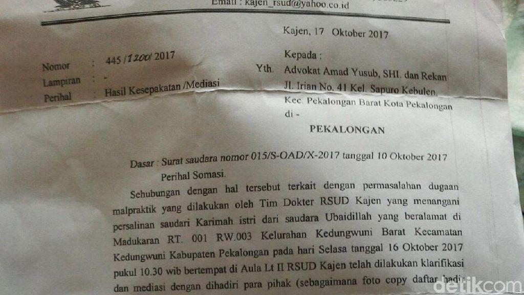 Adiyatma, Bayi Nekrosis di Pekalongan Batal Berobat ke Semarang