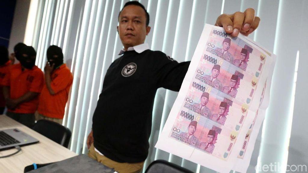17 Ribu Lembar Uang Palsu Ditemukan Selama Agustus 2017