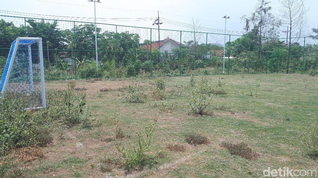 Dispora Kaget Tahu Lapangan Sepakbola Mini di Kutisari Tak Terawat