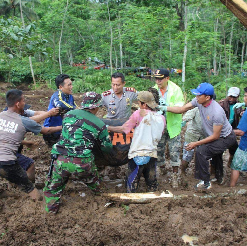 Dua Jenazah Terakhir Ditemukan, Evakuasi Longsor Jember Tuntas
