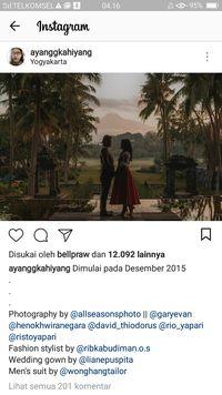 Romantisnya Foto Prewedding Kahiyang dan Bobby di Yogyakarta