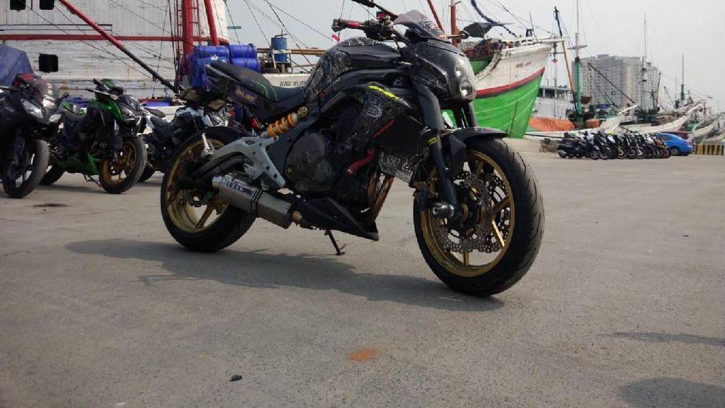 Kawasaki ER6n Full Modif Water Printing Nih..