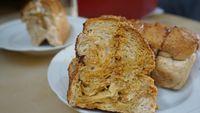 Roti isi krim moka dengan nogat dan Milo yang enak lembut. Foto: Lusiana Mustinda/detikFood