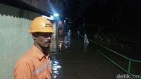 Banjir di Jl Kemang Timur XI pada Kamis (19/10) pukul 20.40 WIB /