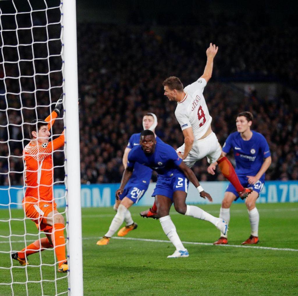Duel Sengit Chelsea Lawan Roma Selesai 3-3