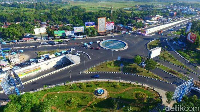 Underpass Simpang Mandai dibangun sejak 2015 dengan pembiayaan menggunakan Anggaran Pendapatan Belanja Negara (APBN) multiyears tahun anggaran 2015-2017. Pool/Dok. Kementerian PUPR.