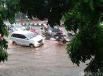 Hujan Deras, TB Simatupang-Kemang-Depan Kementan Tergenang