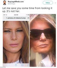 Ramai di Facebook, Dugaan Melanie Trump Palsu
