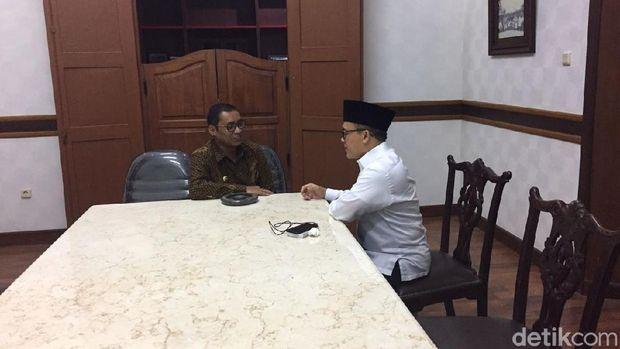 Anas menemui Bupati Tulungagung, Syahri Mulyo