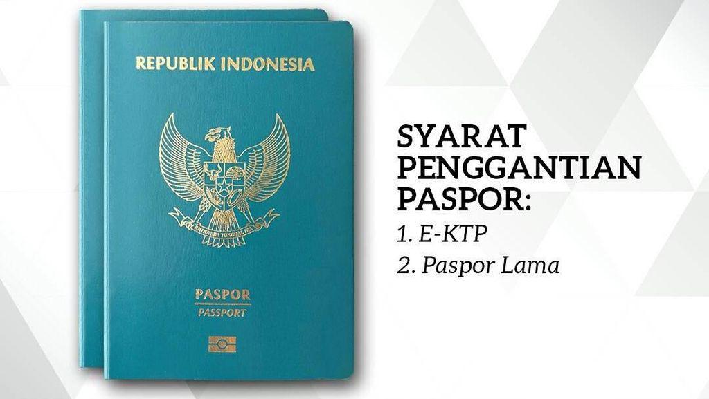 Kini Ganti Paspor Cukup Bawa e-KTP dan Paspor Lama
