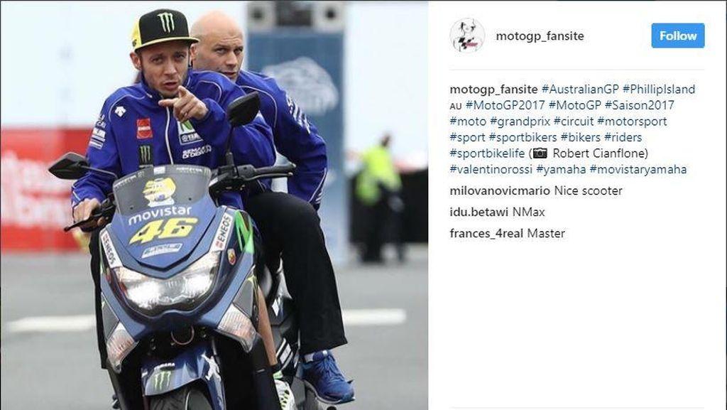 Rossi Tinjau Sirkuit Philip Island Naik Motor Buatan Pulogadung