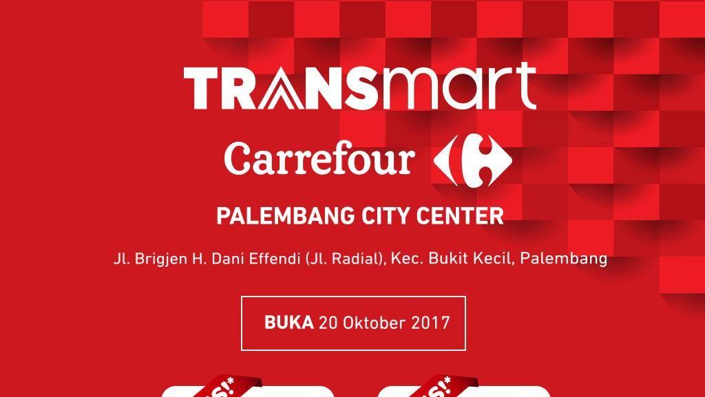 Transmart Carrefour Palembang City Center Dibuka Hari Ini