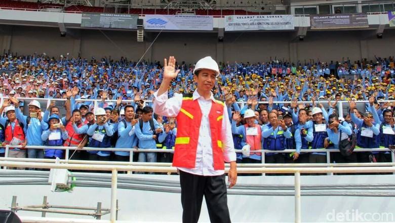 Jokowi Pamer 7 Juta Tenaga Kerja Terserap Proyek Infrastruktur RI