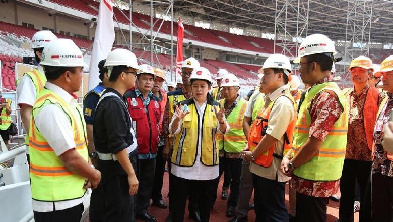 Cek Venue Asian Games, Menko Puan: Alhamdulillah Sesuai Schedule