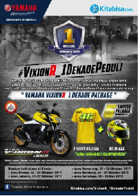 Yamaha Ajak Donasi dan Lelang VixionR_1 DekadePeduli