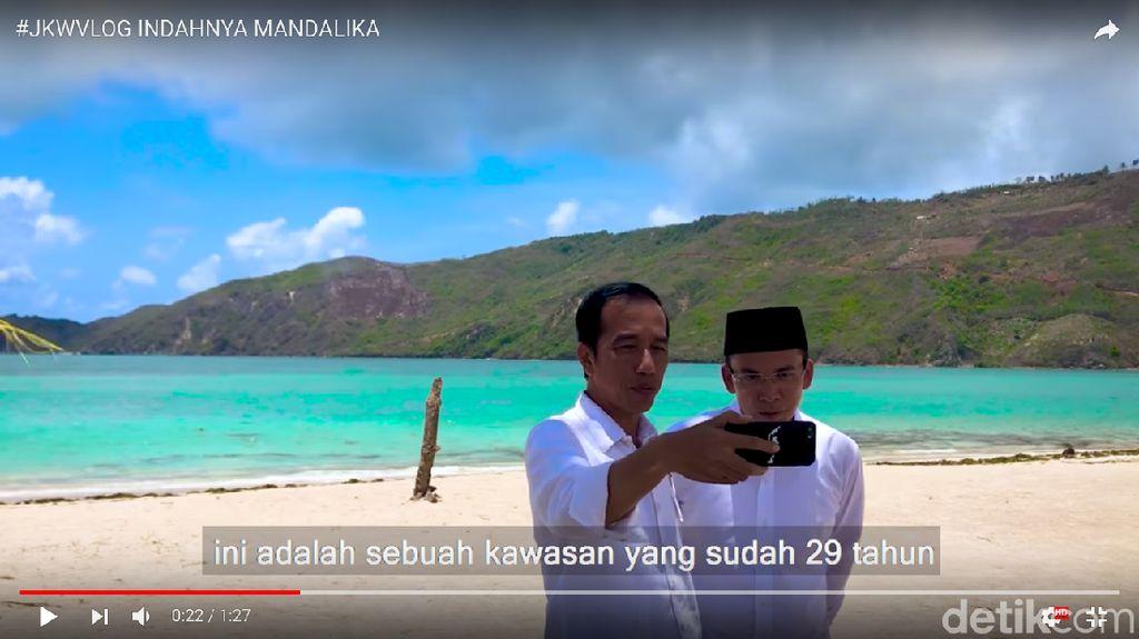 Jokowi dan Tuan Guru Bajang Pamer Indahnya Mandalika lewat Vlog