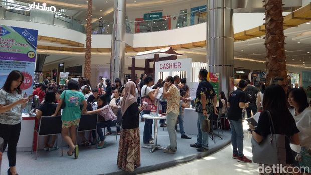Suasana di Mega Travel Fair Surabaya (Gracella/detikTravel)