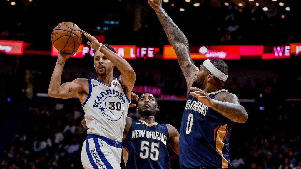 Warriors Bukukan Kemenangan Pertama Usai Kalahkan Pelicans