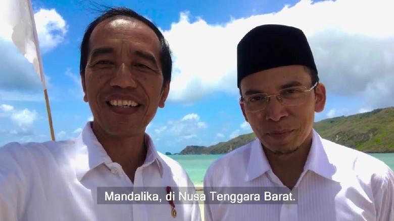 Presiden Jokowi bersama Gubernur NTB di Mandalika, Lombok (Youtube/Presiden Joko Widodo)