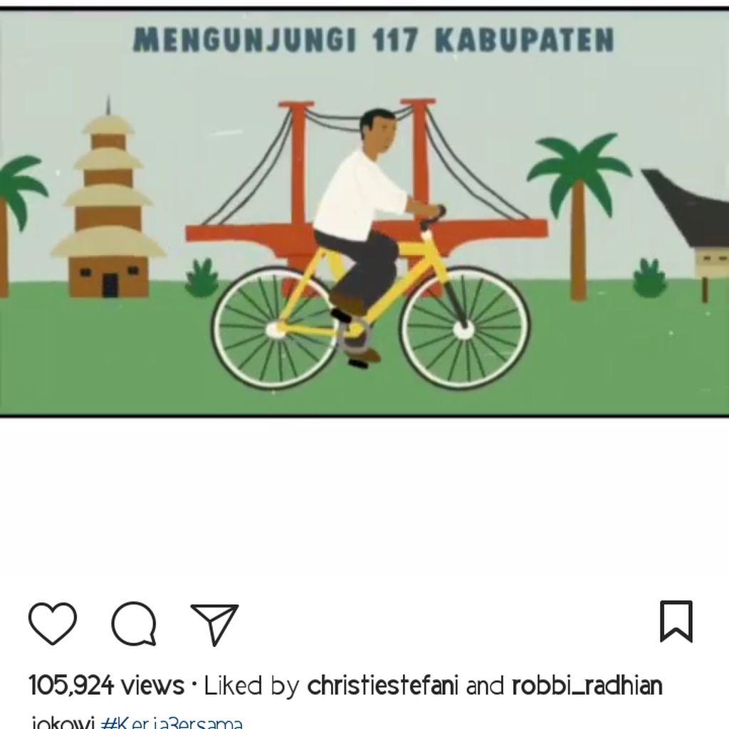 Di Instagram, Jokowi Unggah Video Hasil Kerjanya Selama Pimpin RI