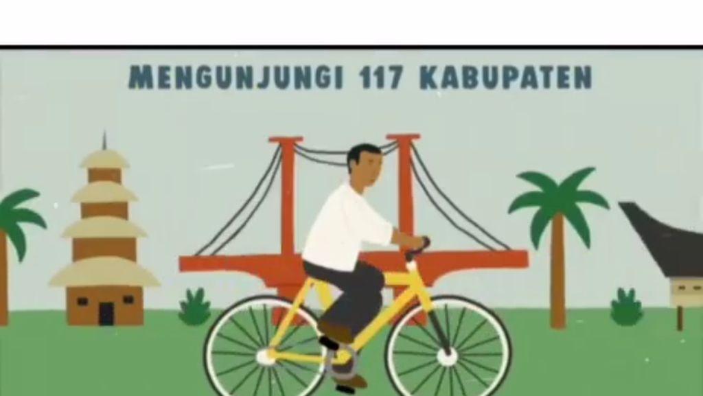 Kayuh Sepeda Kuning, Jokowi Bagikan Sepeda Merah