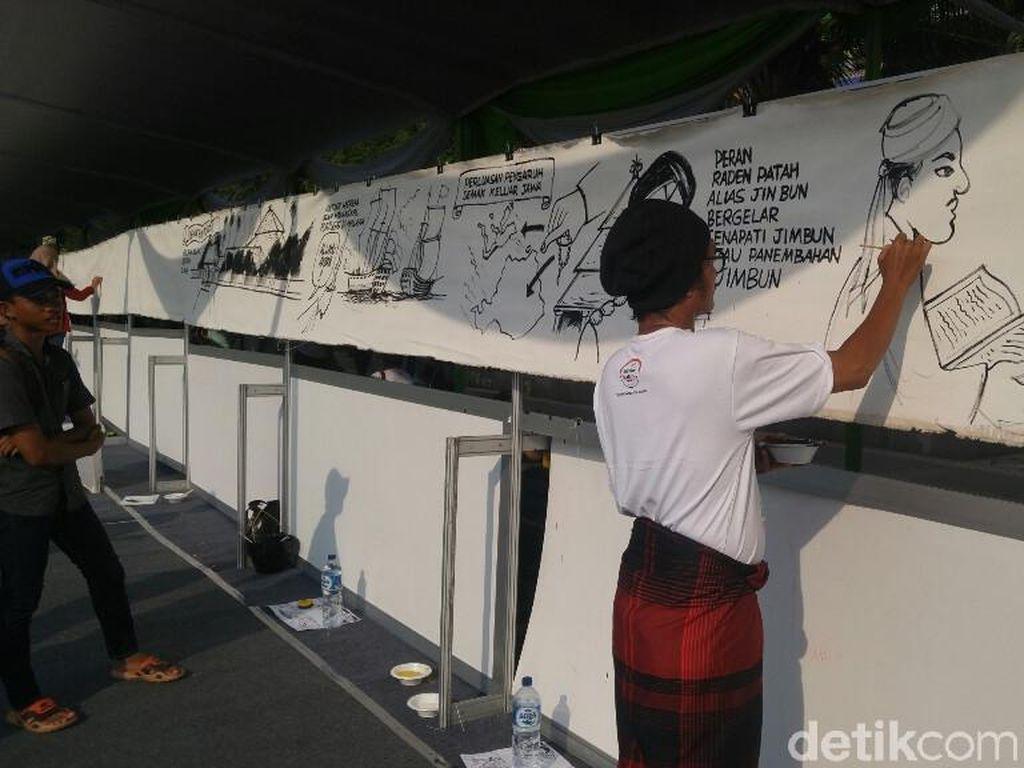 Hari Santri di Semarang Pecahkan Rekor Komik Sepanjang 300 Meter