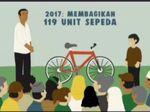 Sepanjang 2017, Jokowi Bagikan 119 Sepeda