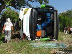 Bus Rombongan Peziarah Asal Pati Terguling di Boyolali