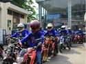 Touring Komunitas se-Jabodetabek Meriahkan Jambore 1 Dekade Vixion