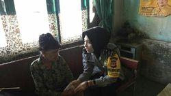 Bripda Intan Blusukan Bantu Perempuan Jompo di Majalengka