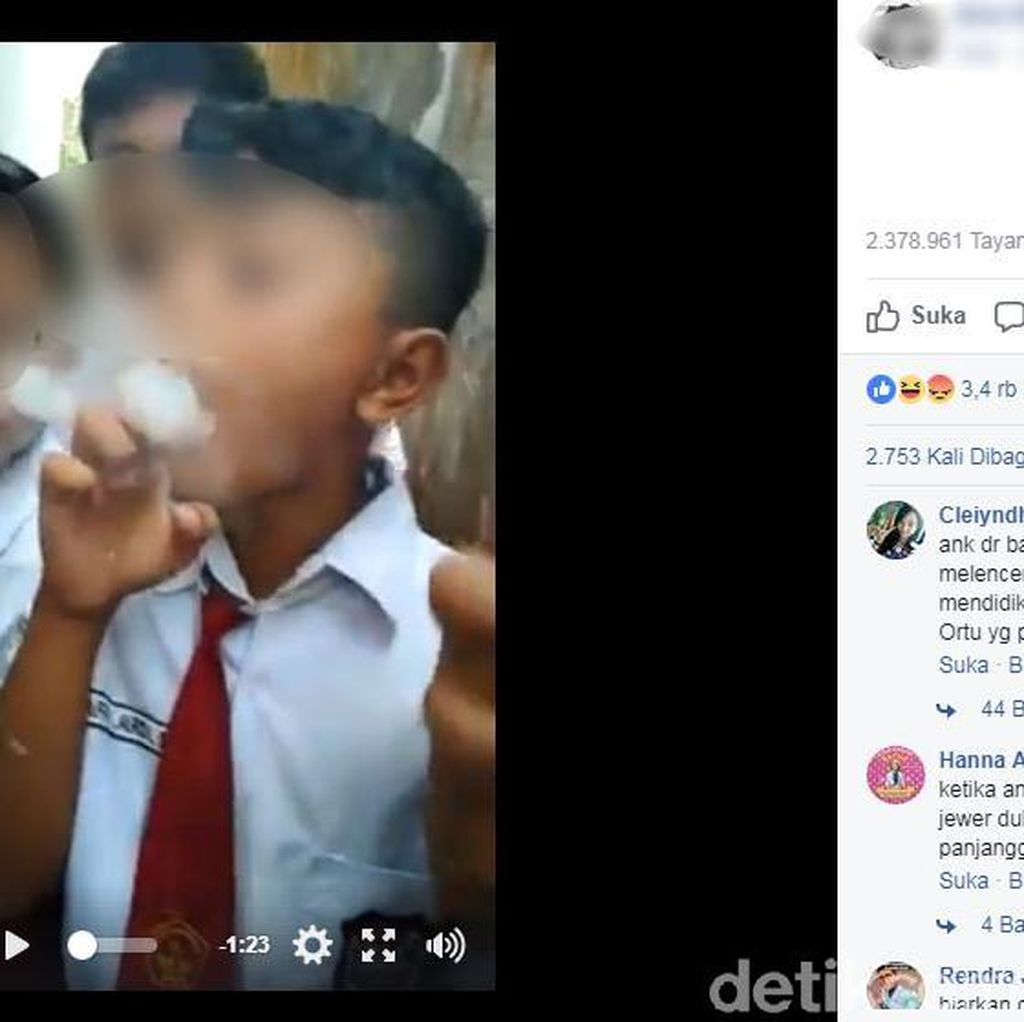 Jadi Viral, Siswa SD Isap Vapor dapat Binaan dari Pihak Sekolah