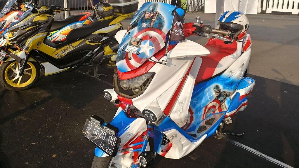 Keren, Nmax ini Disulap Bak Tunggangan Captain America