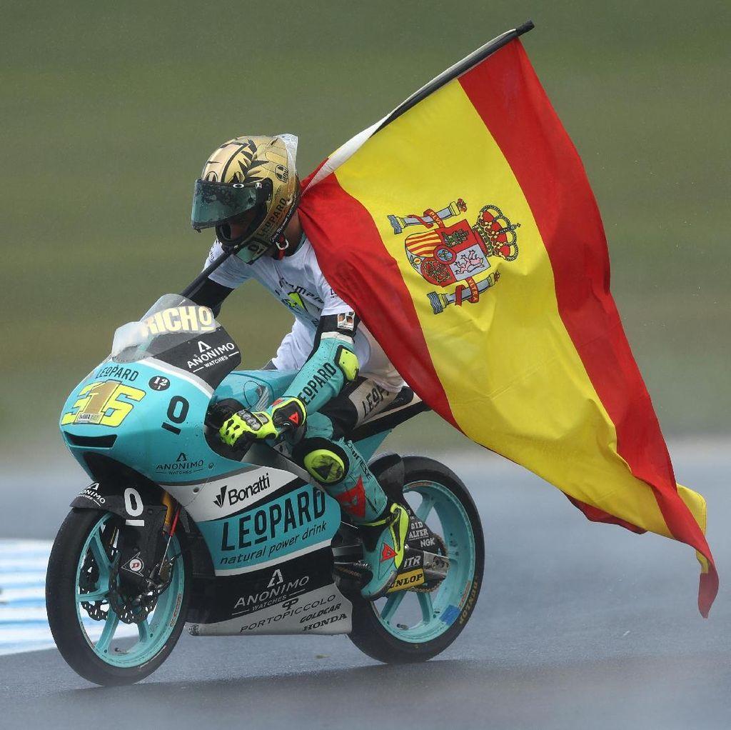 Kemenangan di Phillip Island Antarkan Joan Mir Jadi Juara Dunia Moto3