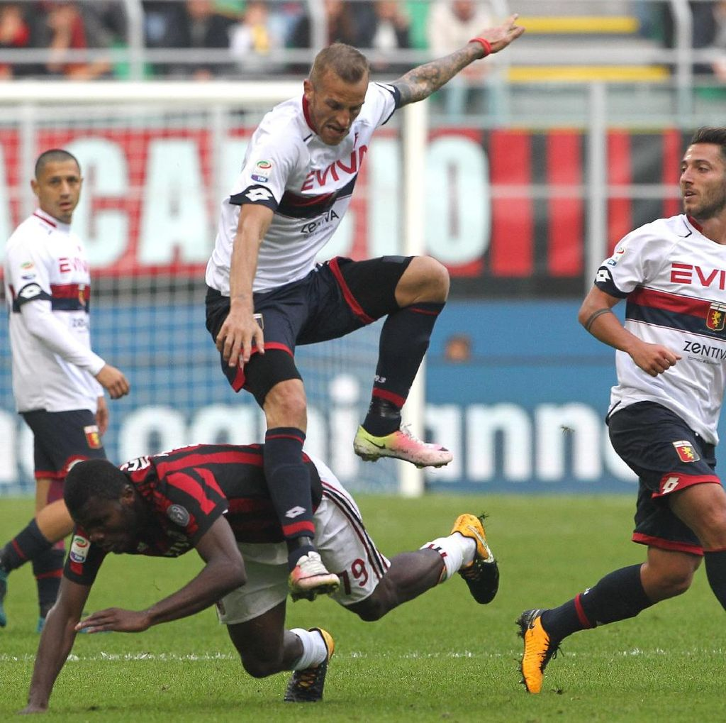Bonucci Dikartu Merah, Milan Ditahan Genoa 0-0