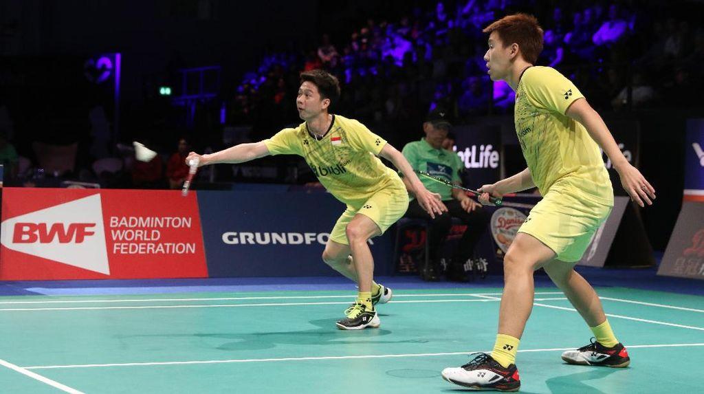 Kalah dari Pasangan China, Kevin Marcus Gagal Juara Denmark Terbuka
