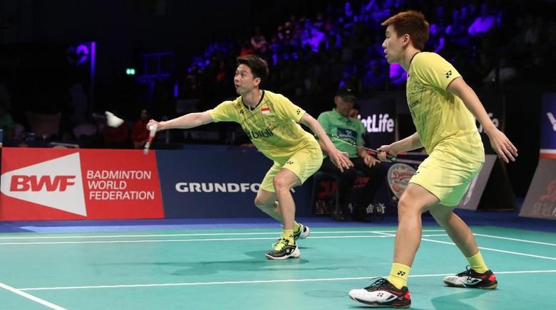 Kalah dari Pasangan China, Kevin/Marcus Gagal Juara Denmark Terbuka