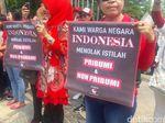 Demo Gara-gara Pidato Pribumi, Massa Tuntut Anies Diproses Hukum