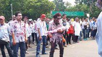 Potret Zombie Menyerbu Istana Merdeka