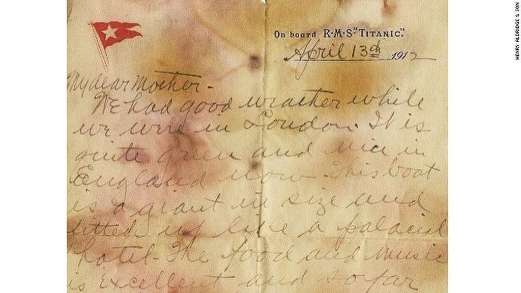 Sepucuk Surat Milik Penumpang Titanic