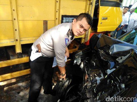 Mobil Kapolsek Wajak kecelakaan di Malang/